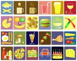 Fototapety food icons