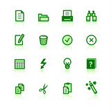 green document icons poster