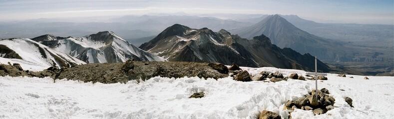 chachani and misti volcanoes