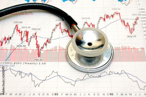 stock chart analysis - concept