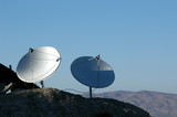 dish antennas in the mountains