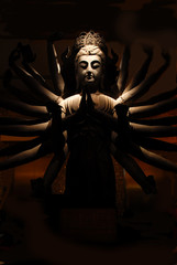 buddha statue in the night