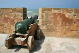 cannon in the fortress in essaouira poster