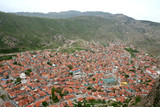 aerial view - afyon, turkey poster
