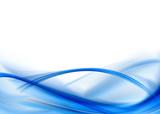 Abstrakcyjna kompozycja - niebieskie fale