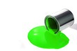 spilled green paint