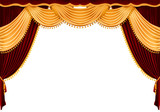red theater curtain poster
