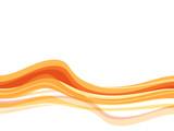Fototapety vague orange fond blanc