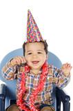 adorable boy celebrating your birthday poster