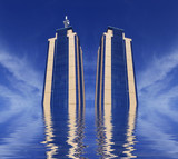 twin towers rising poster