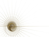 business graphic - gold circle with radiating spines poster