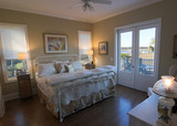 master bedroom with waterfront view poster