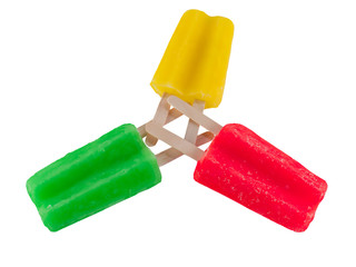 popsicle trio on white