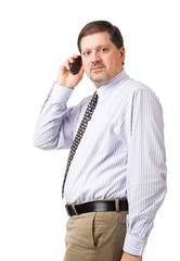 businessman speaking on his mobile phone