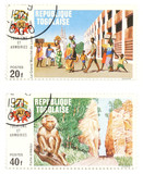 togo post stamps - exotic collectibles poster