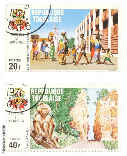 togo post stamps - exotic collectibles