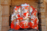 india, chittorgarh: lord ganesh poster