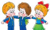 schoolboys and schoolgirl poster