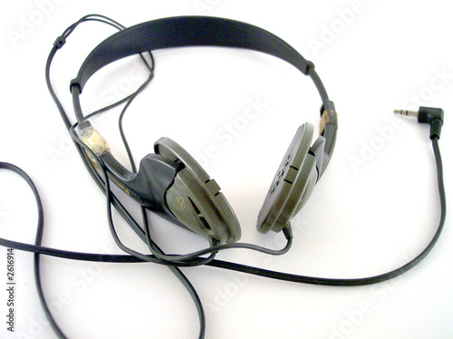 isolated old headset