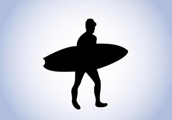 surfer silhouette