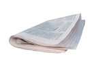 newspaper folded - isolated over white poster