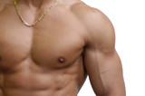 muscular male torso poster