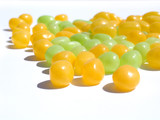 yellow and green jelly beans poster