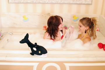 women in bathtub