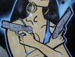 Quadro gun woman