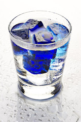 cool blue cocktail