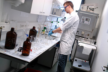 scientist professor working in the laboratory