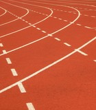 running track markings poster