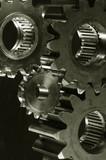 gear mechanism in bronze toning poster