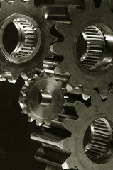 gear mechanism in bronze toning