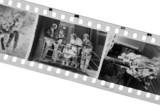 old black-white photofilm. a negative 35mm. poster