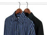 two shirts on a rack poster