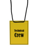 technical crew stage pass poster