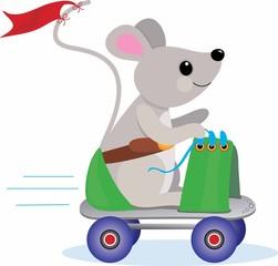 roller skate mouse