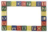 alphabet background poster