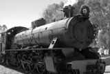 steam train in black and white poster