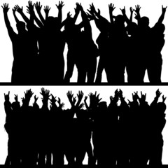 hands up silhouettes 4