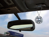 travel with disco mirror ball