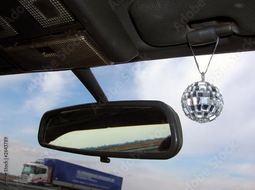 Leinwanddruck Bild travel with disco mirror ball