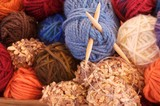 colorful yarn to knit poster
