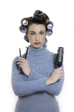 hair-curlers victim poster