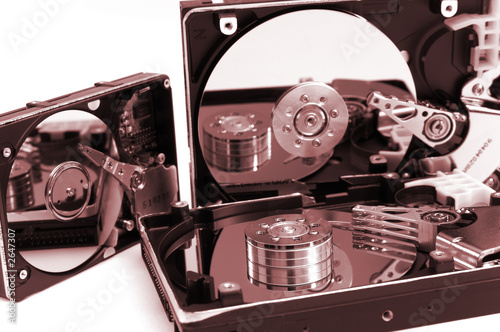 opened hard drives