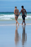 loving couple at the beach poster