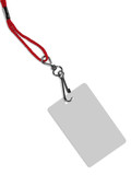 blank badge with copy space (+ clipping path) poster