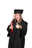 thumbs up graduate poster
