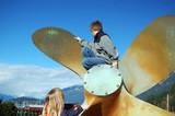 children on propeller poster